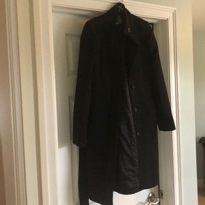 J. Crew double cloth black coat